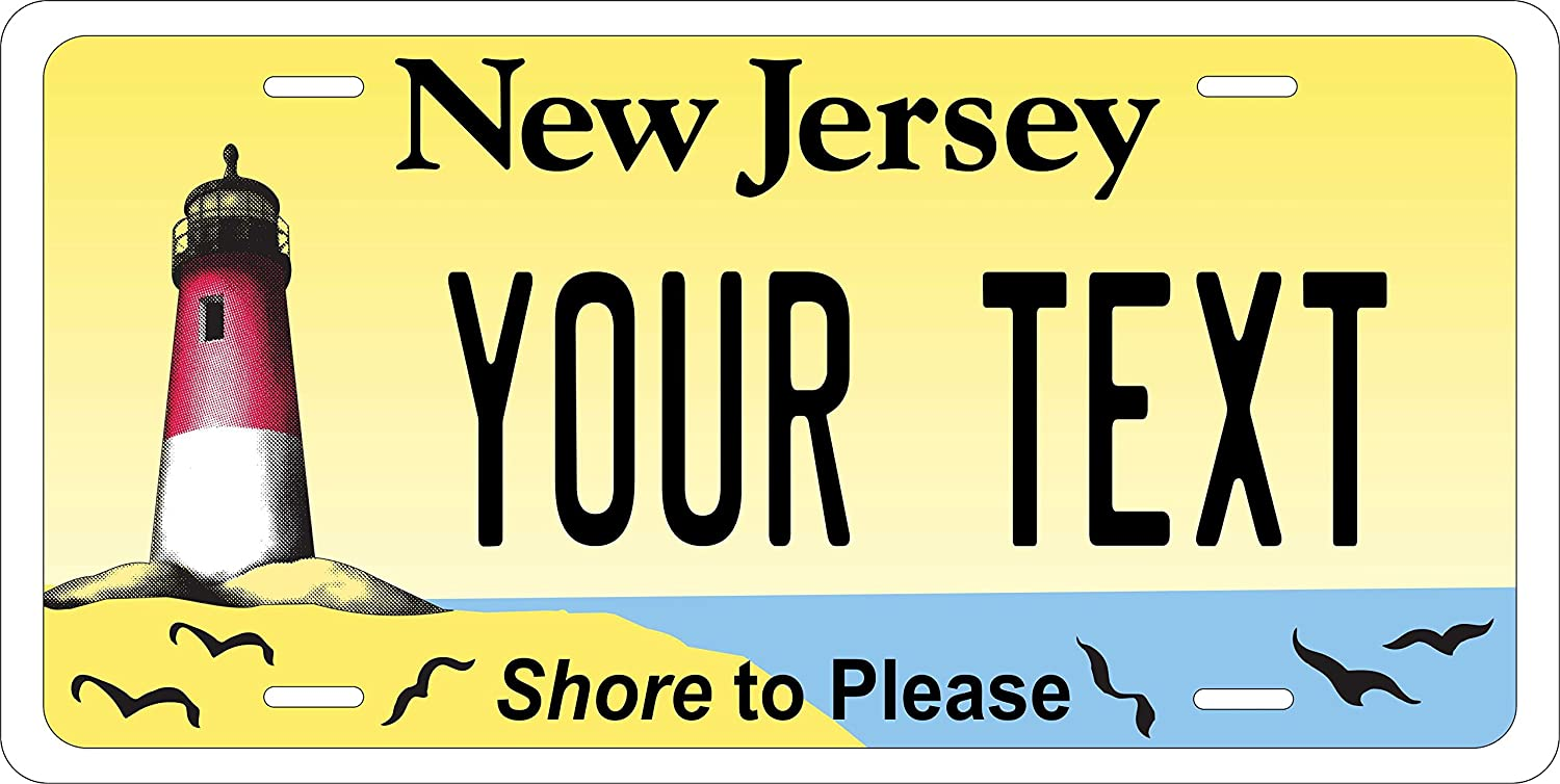 New Jersey Shore PhotoZoneGa 50 State Personalized Custom Novelty Tag Vehicle Auto Car Bike Bicycle Motorcycle Moped Key Chain License Plate