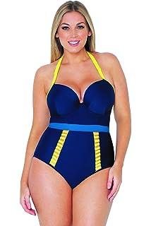 eebcca67351 Curvy Kate Women's Sheer Class Plunge Swimsuit at Amazon Women's ...
