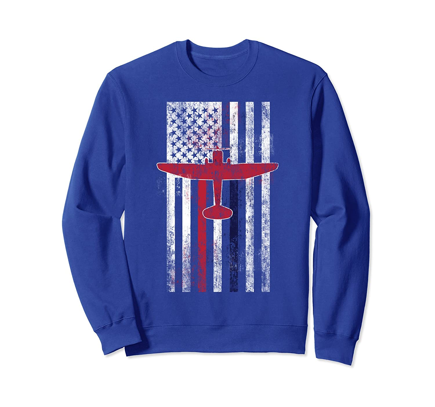 Airport Firefighter Daddy USA American Flag Sweatshirt gift- TPT