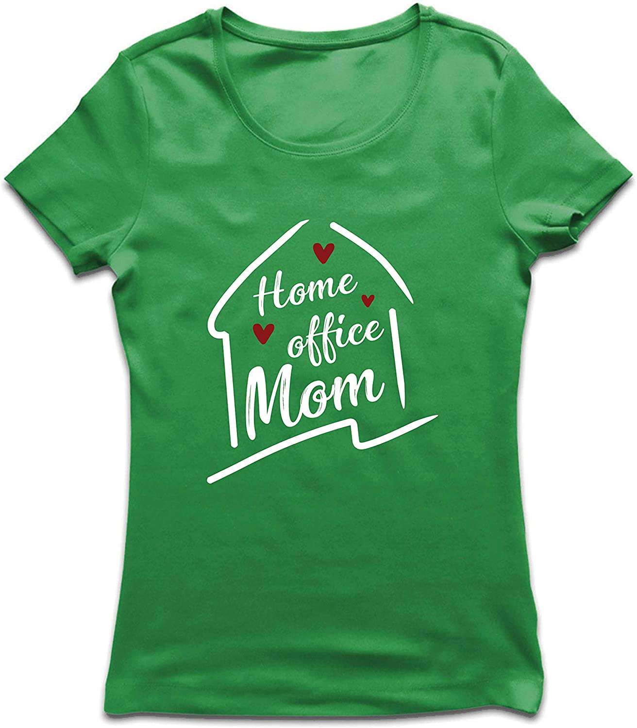 lepni.me Women's T-Shirt Home Office Mom Outfit Social Distancing Work from Home