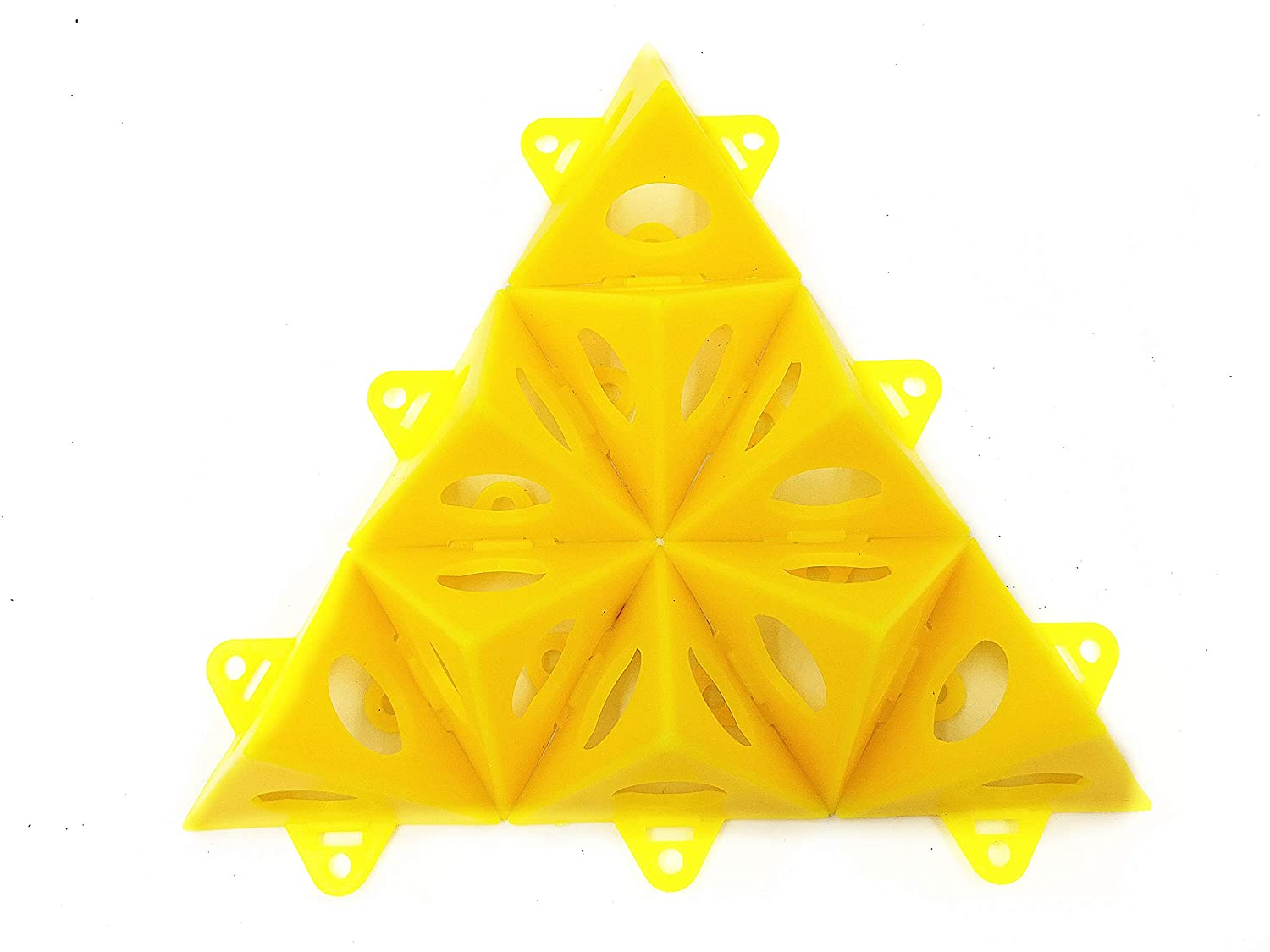 Tipu 20-Pcs Pyramid Stands, Painter Tripods, Pyramids Tab Feature, Yellow (Yellow)