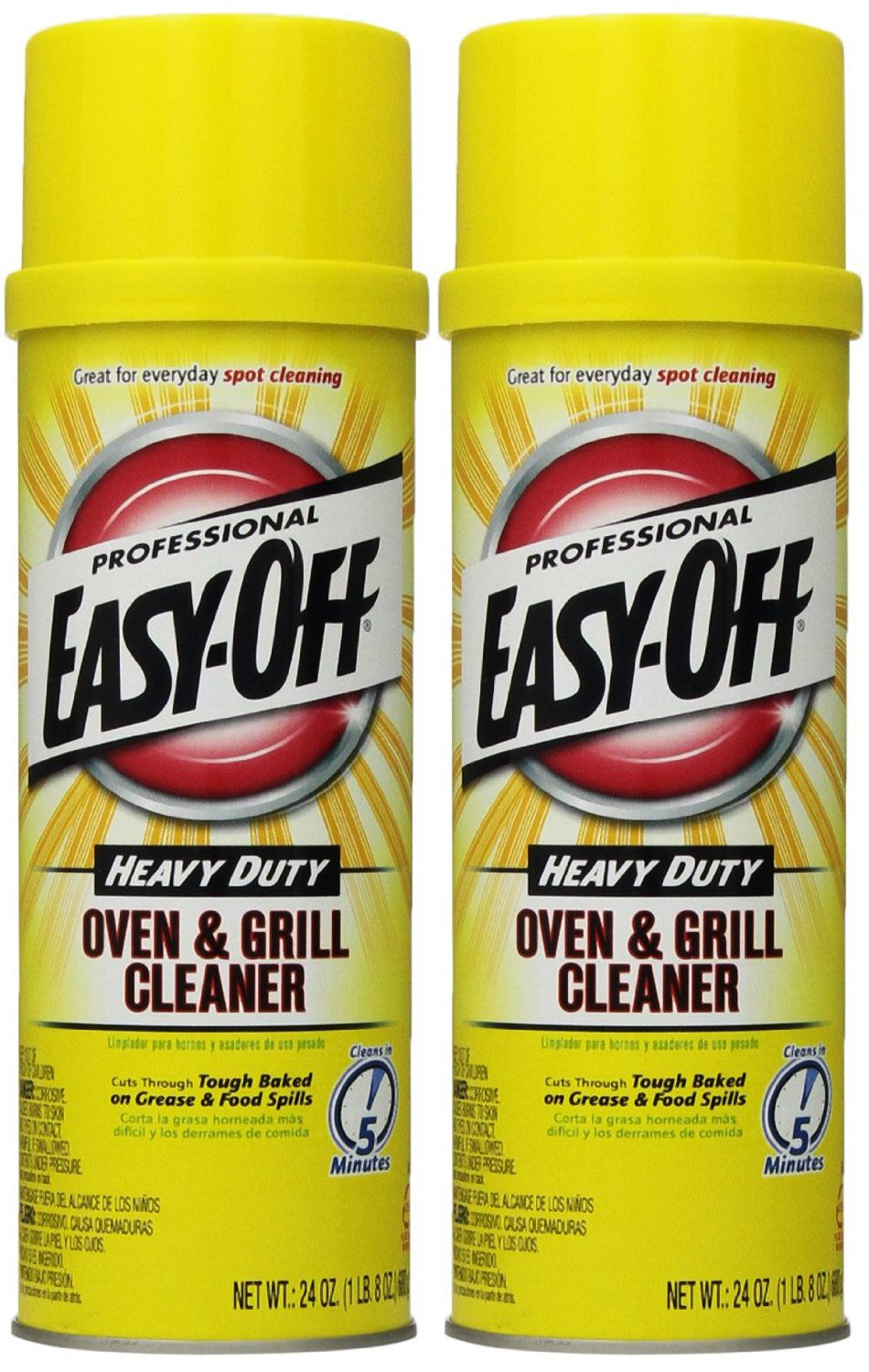 Easy Off Professional Oven & Grill Cleaner Aerosol, 24 oz, Pack of 2 by Easy Off