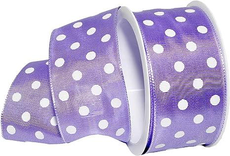 Lavender Dot Fabric by the 1//2 Yard Lavender Polka Dot Fabric Swiss Dot