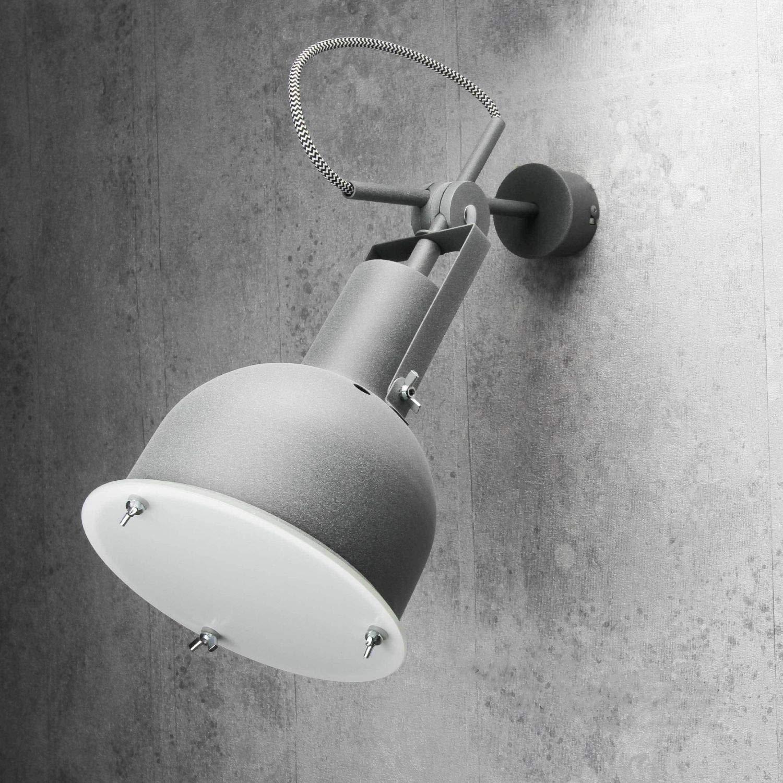 Industrie Wandleuchte Metall verstellbar Ø17cm Made in EU in Zink E27 Lampe Innen Wohnzimmer Küche