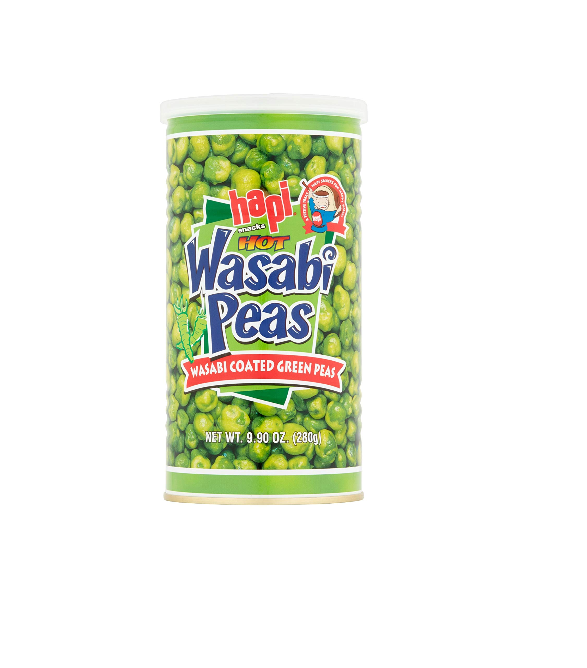 Hapi Snacks Wasabi Peas, Hot, 9.9 Oz (Pack of 5)