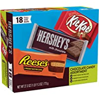18-Count Hershey Candy Bar Variety Box Full Size