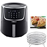 GoWISE USA GW22956 7-Quart Electric Air Fryer with Dehydrator & 3 Stackable Racks, Led Digital Touchscreen with 8…