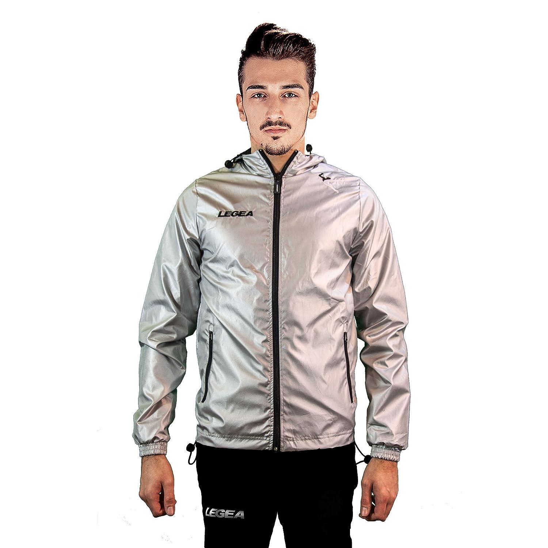 747031107d28 Legea Zaire  Fit Rain Hooded Long Sleeve Jacket Silver-Plated ...