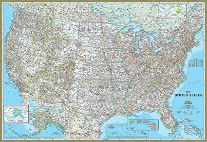 National Geographic\'s Classic United States of America (USA) Map ...