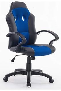 Silla Gaming giratoria ajustable en altura con diseño ergonómico, tapizado en piel sintética y tejido