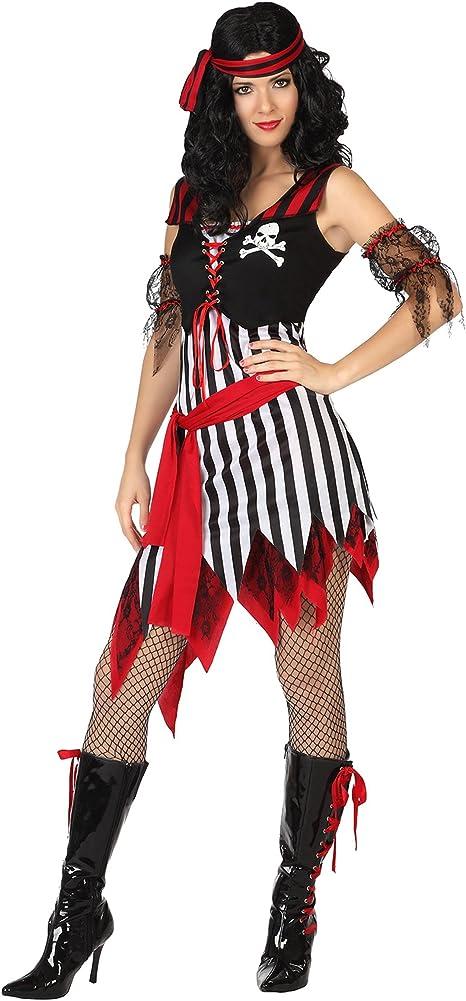 Atosa-26591 Atosa-26591-Disfraz Pirata-Adulto Mujer, Color rojo, M ...