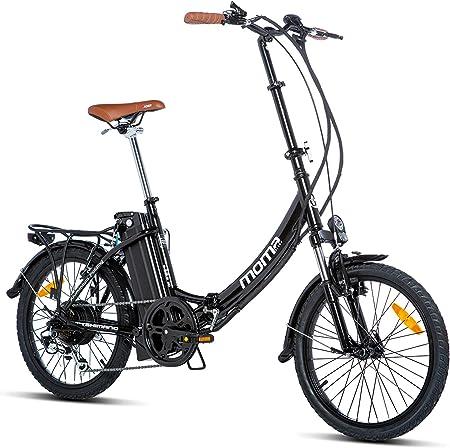 Moma Bikes E- Bike 20.2 Bicicleta Plegable electrica, Adultos Unisex, Negro, Unic Size: Amazon.es: Hogar