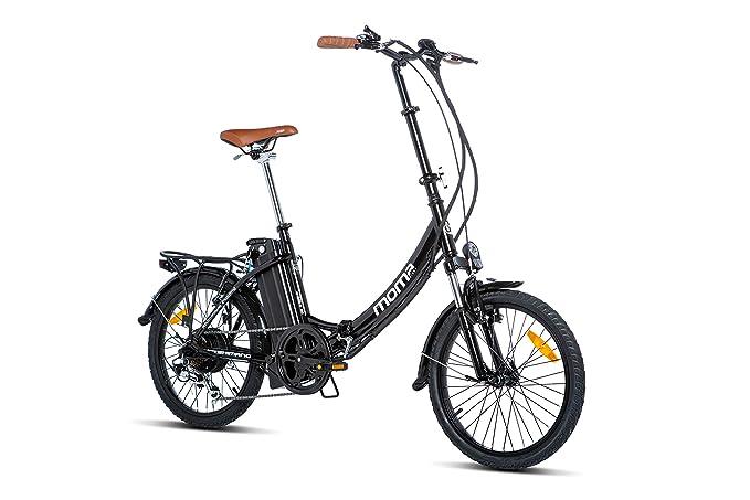 Moma Bikes E- Bike 20.2 Bicicleta Plegable electrica, Adultos Unisex, Negro, Unic Size