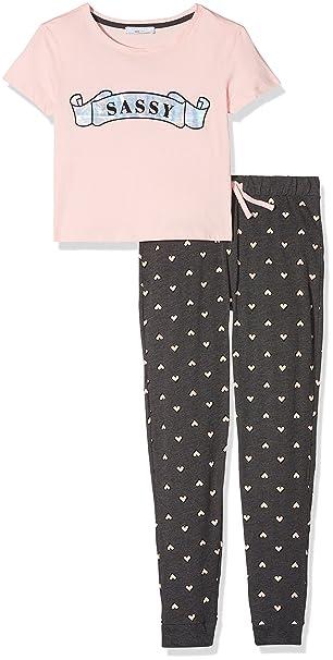 New Look 915 Sassy Foil Long Leg, Conjuntos de Pijama para Niñas, Rosa (