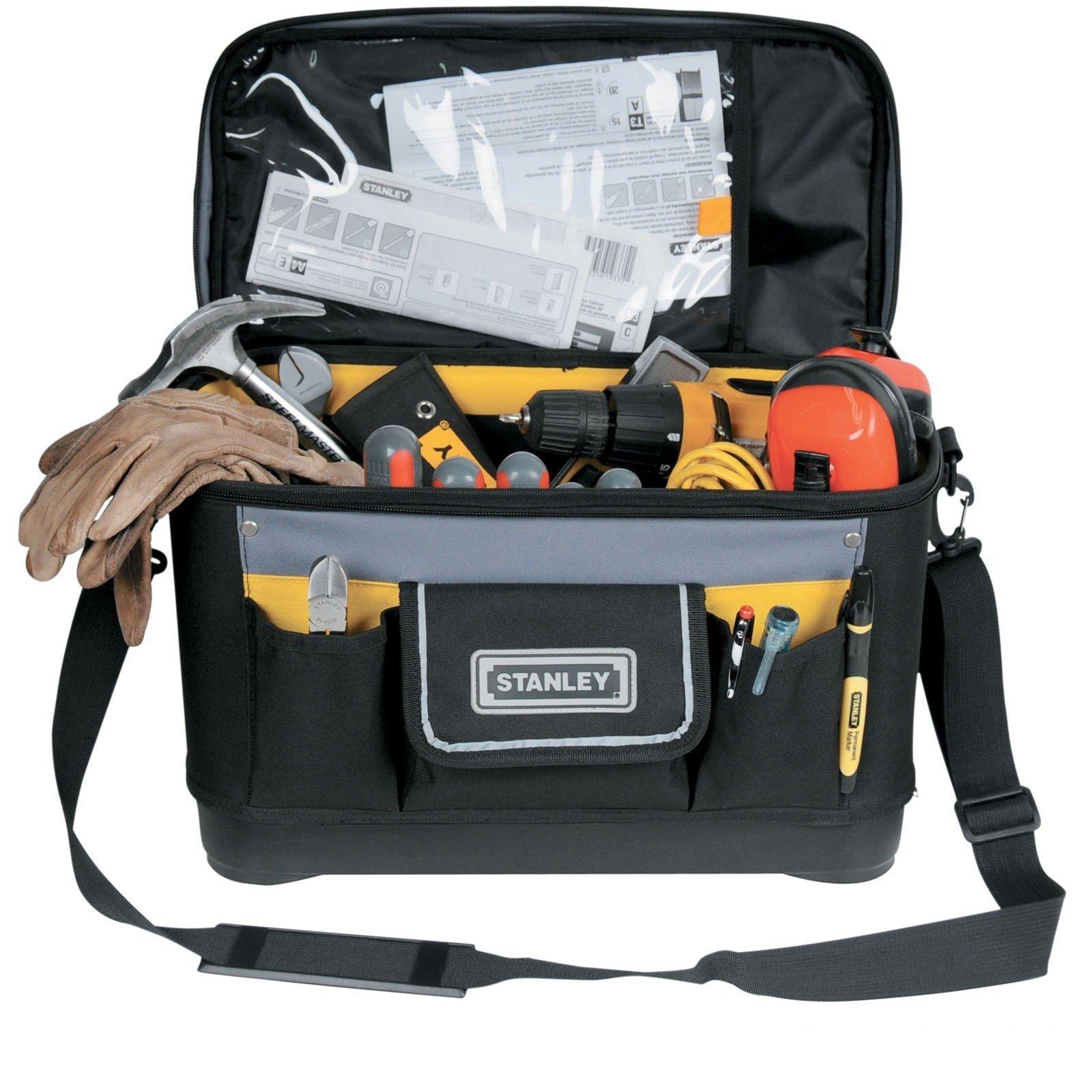 STANLEY 1-96-193 - Bolsa para herramientas con tapa plana, 44.7 x