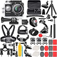 Neewer G1 Ultra HD 4K Action Camera Kit Includes 12MP, 98 ft Underwater Waterproof Camera 170 Degree Wide Angle WiFi…