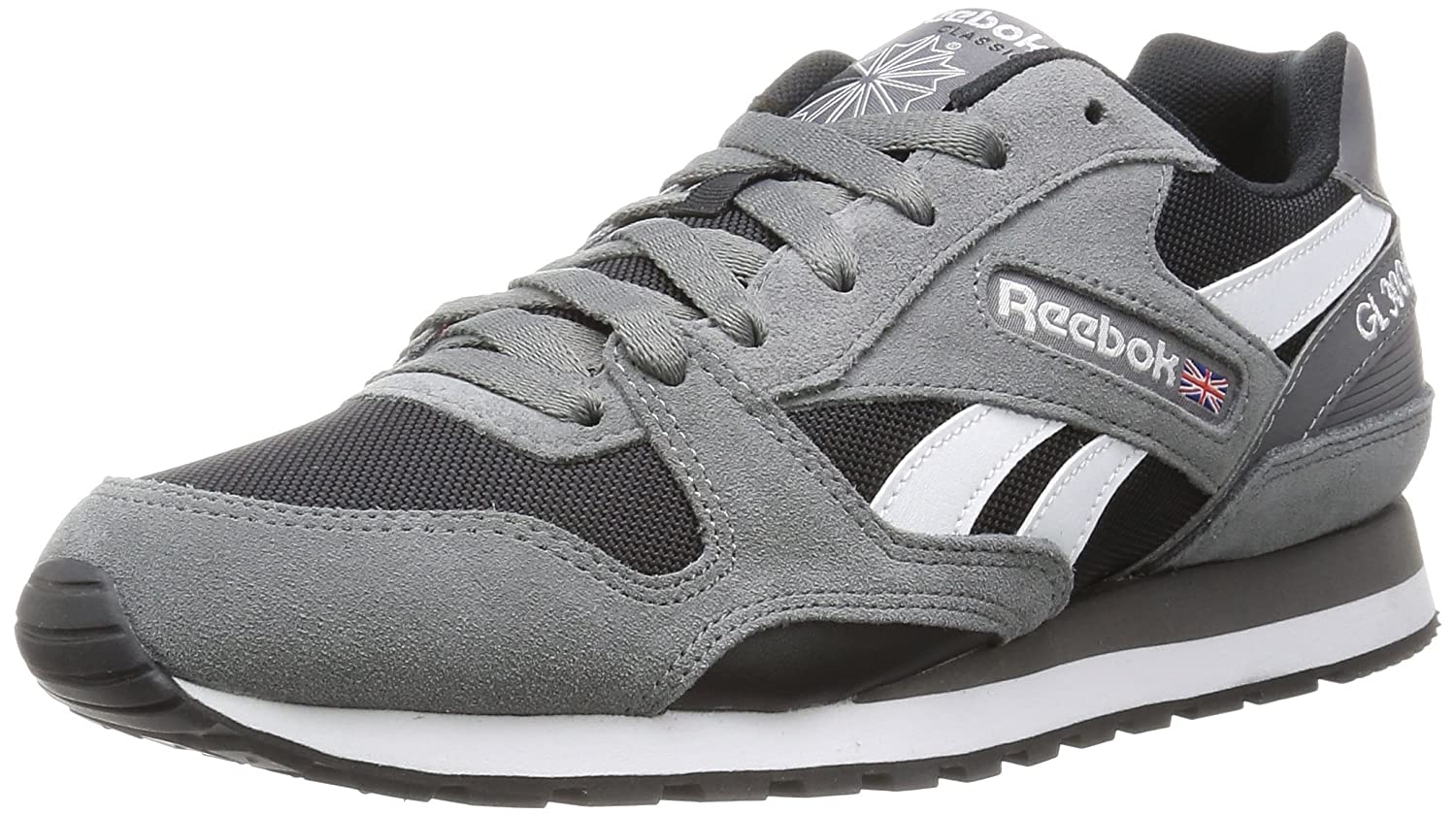 Reebok Herren Gl 3000 Low-Top  43 EU|Grau (Black/Shark/White)