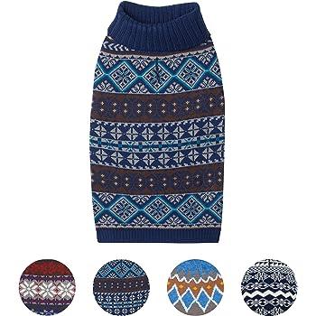 77977934b1d Blueberry Pet 4 Patterns Vintage Fair Isle or Lopi Designer Dog Sweater