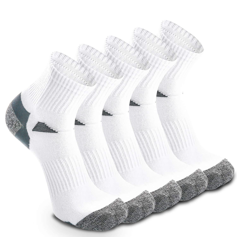 5 Pairs Trainer Sports Running Socks for Men Women Ladies, Elastic Thin Breathable Quarter Socks