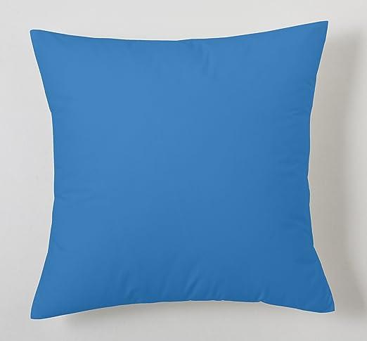 ESTELA - Funda de cojín Combi Lisos Color Azul Claro - Medidas 40x40 cm. - 50% Algodón-50% Poliéster - 144 Hilos: Amazon.es: Hogar