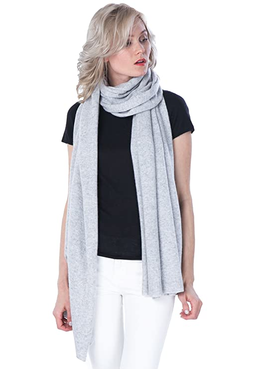 fc7250e3a 100% Cashmere Wrap Shawl Stole Extra Large Scarf -by cashmere 4 U at Amazon  Women's Clothing store:
