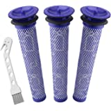Wolfish 3 Pack Pre Filters for Dyson DC58, DC59, V6, V7, V8. Replacements Part # 965661-01. 3 Filters Kit for Dyson…