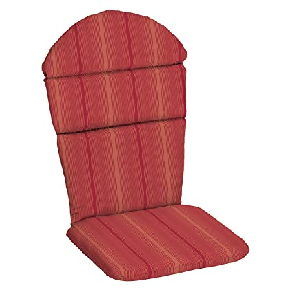 Premium Acrylic Red Stripe Adirondack Chair Cushion Pad Hinged Seat Back  Seasonal Replacement