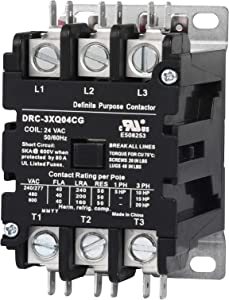 Sunlee controls 3 Pole 40 Amp contactor 120V coil DP Contactor HVAC Contactor
