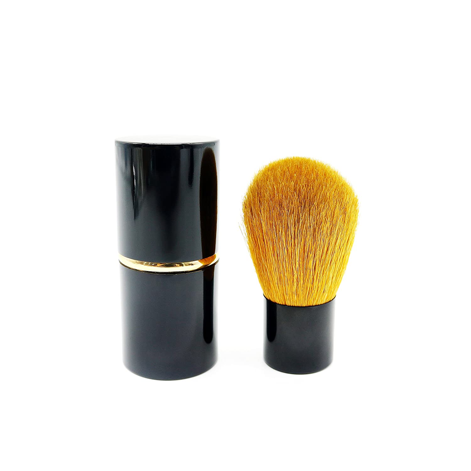 Cosmetic Kabuki Brush for Powder Mineral Foundation Blending Blush Makeup Brush with Premium Goat Hair by JDK JDK Makeup
