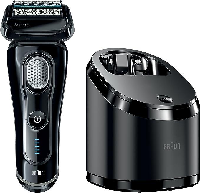 Braun Series 9 9075 CC Electric Shaver de aluminio con limpiar y estación de carga, color negro: Amazon.es: Salud y cuidado personal