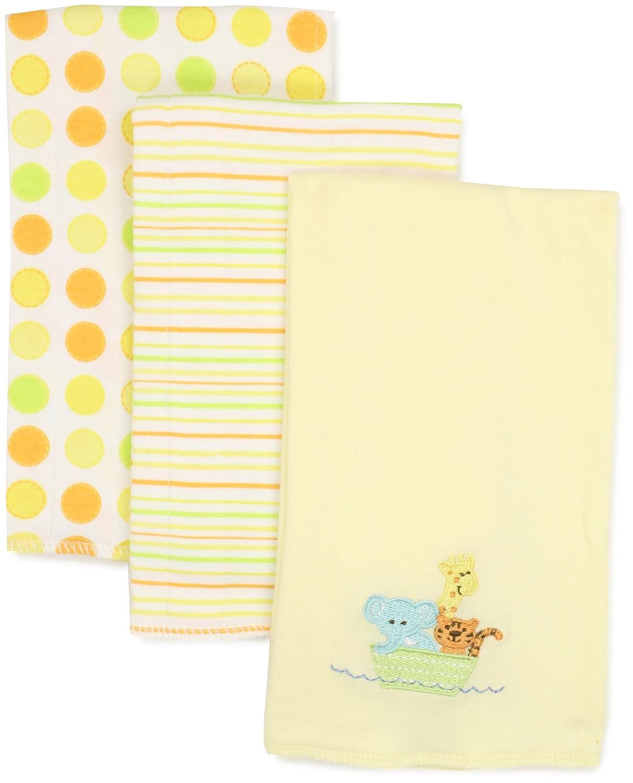 Spasilk Baby-Boys Newborn 3 Pack 100% Cotton Burp Cloths Blue Baby One Size Layette Spasilk BC 012