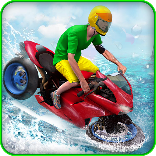 Water Surfer Bike Rider 3D