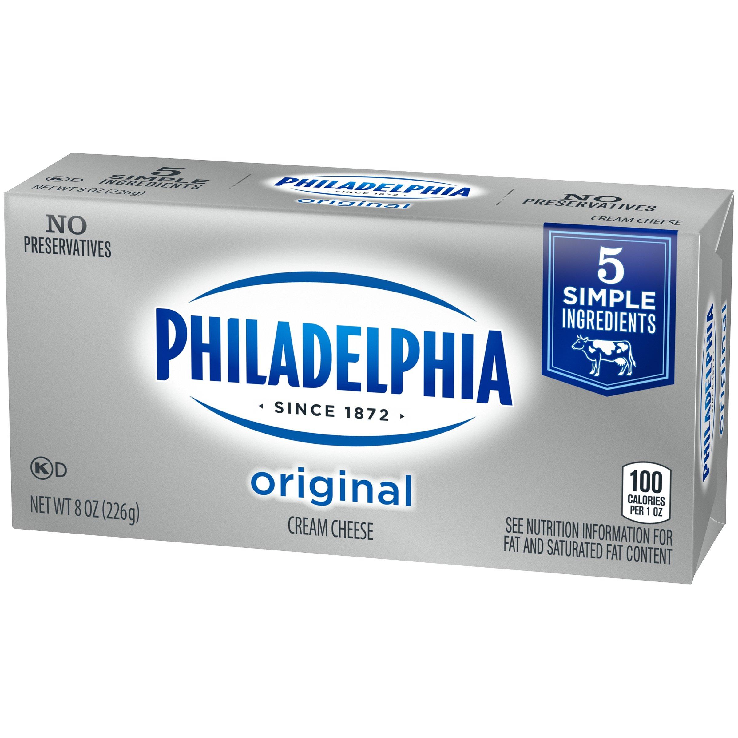 Philadelphia Original Cream Cheese Brick, 8 oz Box