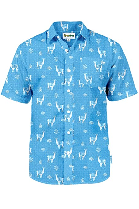 4a437719 Amazon.com: Men's Bright Hawaiian Shirt for Spring Break and Summer - Funny Aloha  Shirt for Guys: Clothing