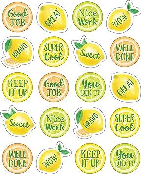 Teacher Created Resources Lemon Zest Stickers