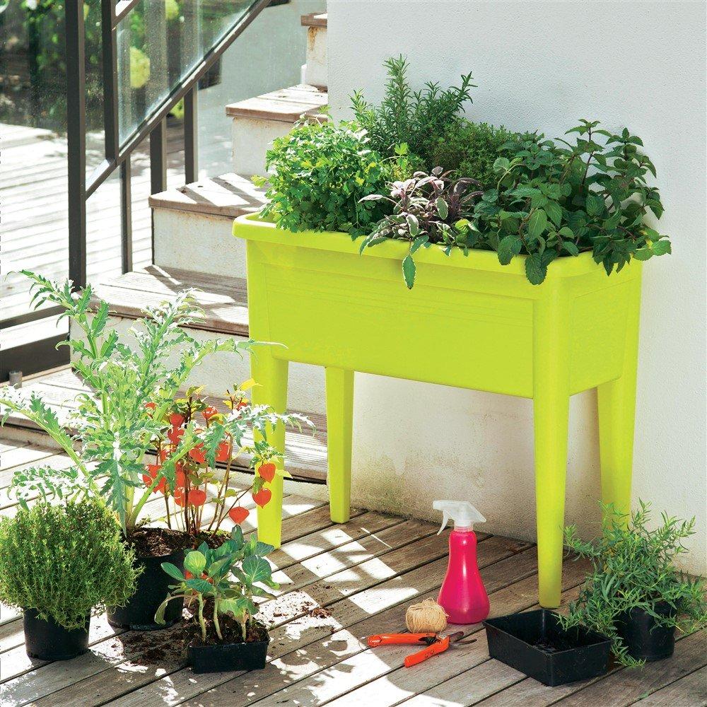 Elho - Mesa de cultivo 76 cm Color a elegir), verde lima: Amazon.es: Jardín