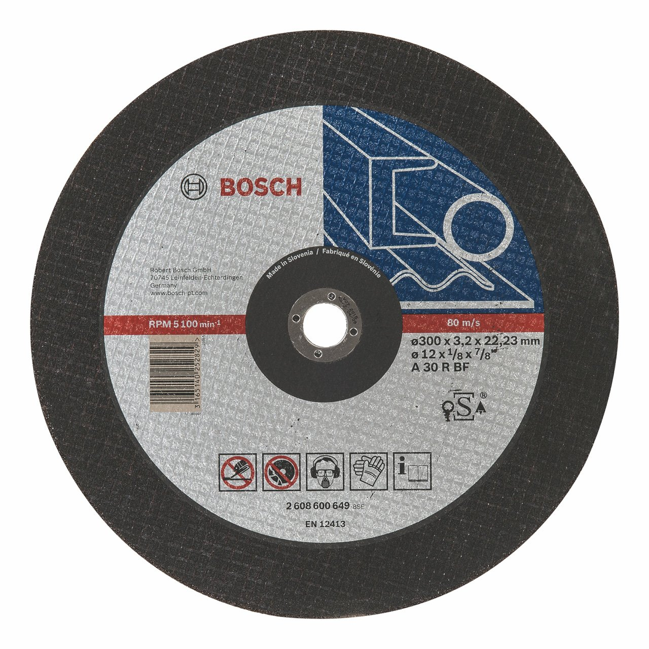 Bosch 2608600649 Disque /à tron/çonner /à moyeu plat