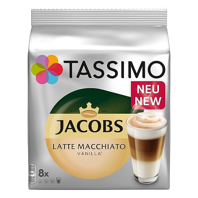 Tassimo Latte Macchiato Vanilla, Café, vainilla Leche Café Café Cápsula, gorda Café Tostado