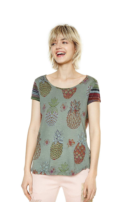 18swtkgz it Donna Xs Maglietta Desigual Camille Amazon Verde aqZwPp