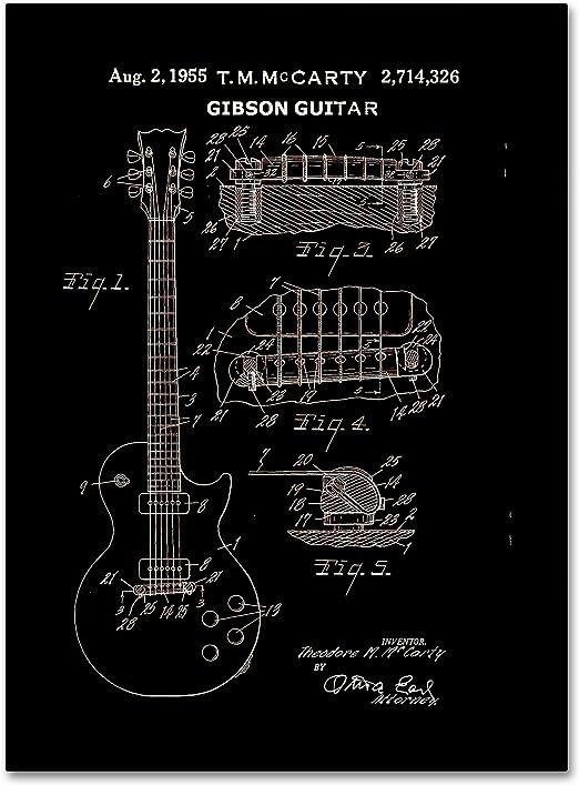GIBSON GUITARS LOGO VINTAGE MUSIC WALL ART DECAL DECOR VARIOUS COLOURS