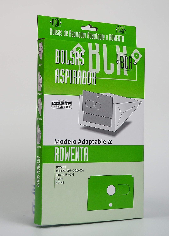Sanfor Bolsa Aspirador ROWENTA DyMBO R-RO12 Caja 2 Unidades, Papel ecológico de Doble Capa, MARRÓN, R012: Amazon.es: Hogar