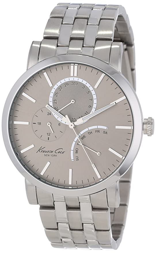 Amazon.com: Kenneth Cole New York Mens KC9237 Classic Grey Dial Sub-Second Bracelet Watch: Kenneth Cole: Watches