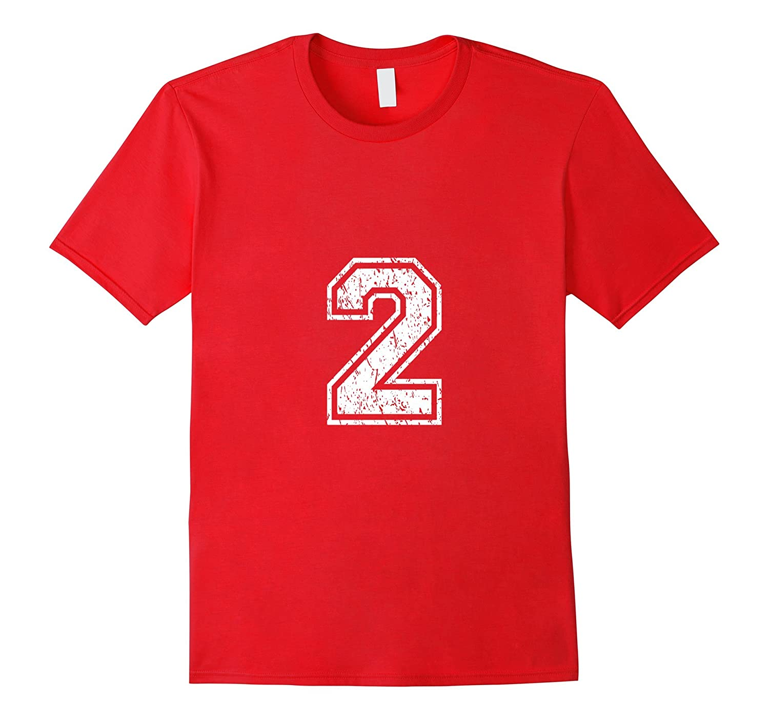 Number 2 Shirt Distressed Look-TH