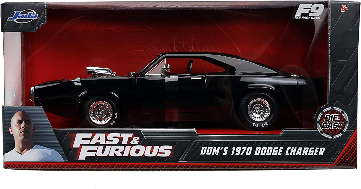 Fast /& Furious 1:24 1970 Doms Dodge Charger Die-cast Car Toys for Kids and Adults