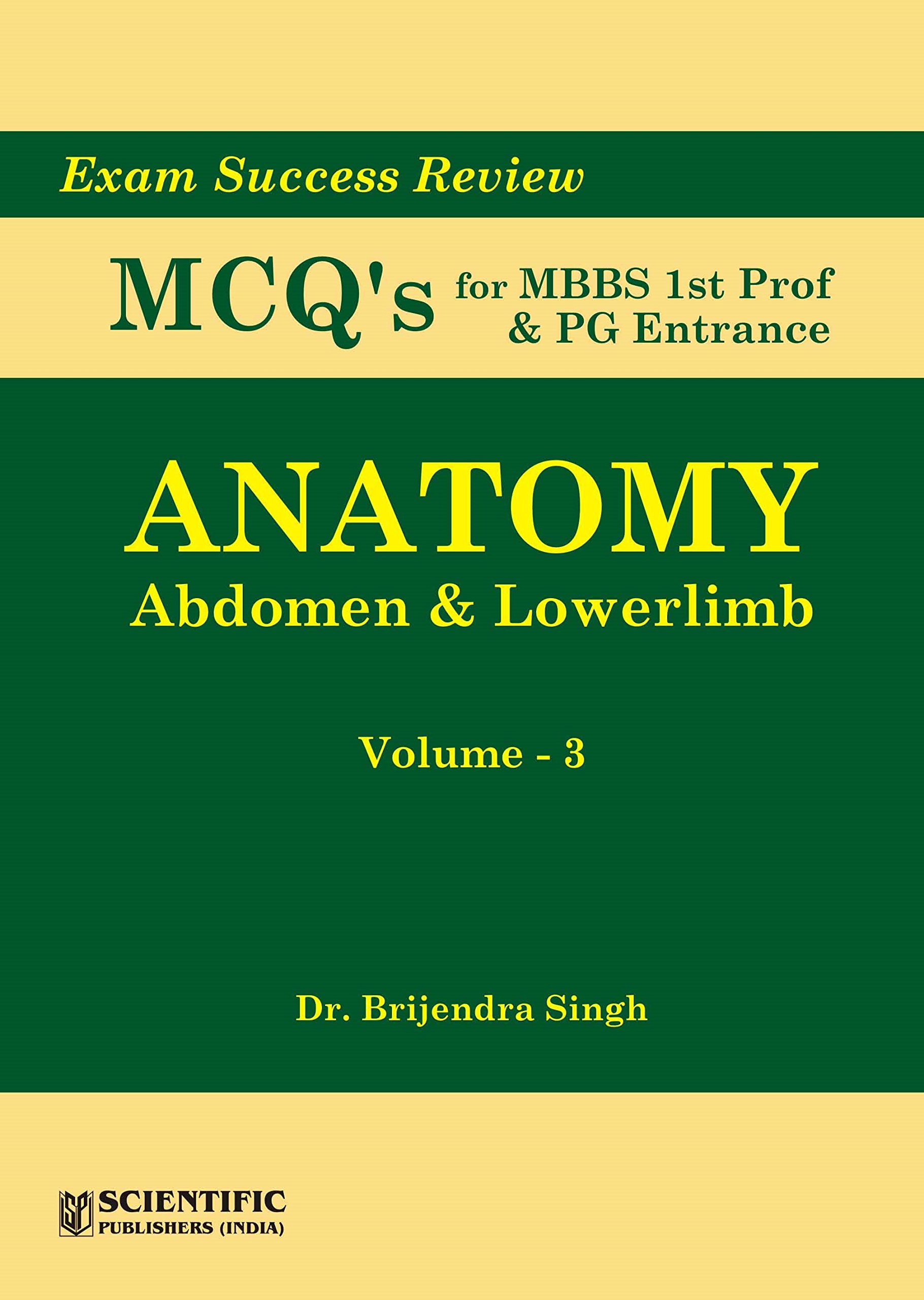 Buy Anatomy Abdomen Lowerlimb Vol 3 Exam Success Review Mcqs