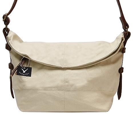 82621492e8b6 Hynes Eagle Casual Canvas Crossbody Messenger Purse Bag for Women Girls  Satchel Hobo Handbags Off-white  Amazon.ca  Luggage   Bags
