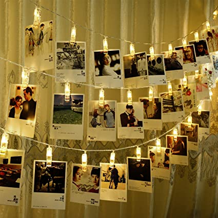 CtopoGo Photo Clips String Lights, USB Powered 40 LED Starry Light Wall  Decoration Light For