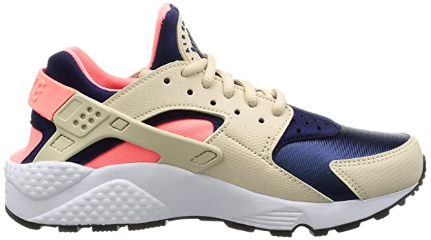 Amazon.com | Nike Womens Air Huarache Oatmeal/Binary Blue Lava Glow Running Shoes (8.5) | Running