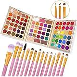 UCANBE Pro Eyeshadow Palette + 15 Pcs Makeup...