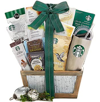 Starbucks Coffee And Teavana Tea Extravagant Gift Basket A Succulent Delectable Idea For